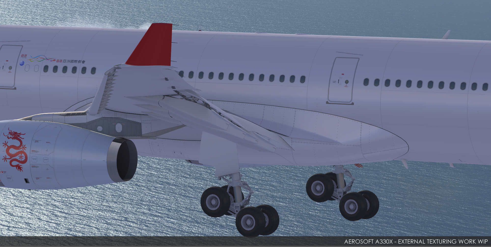 Aerosoft A330X Further External Texturing! | PC Flight
