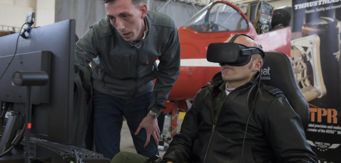 Virtual Red Arrows Meet Real-life Counterparts!
